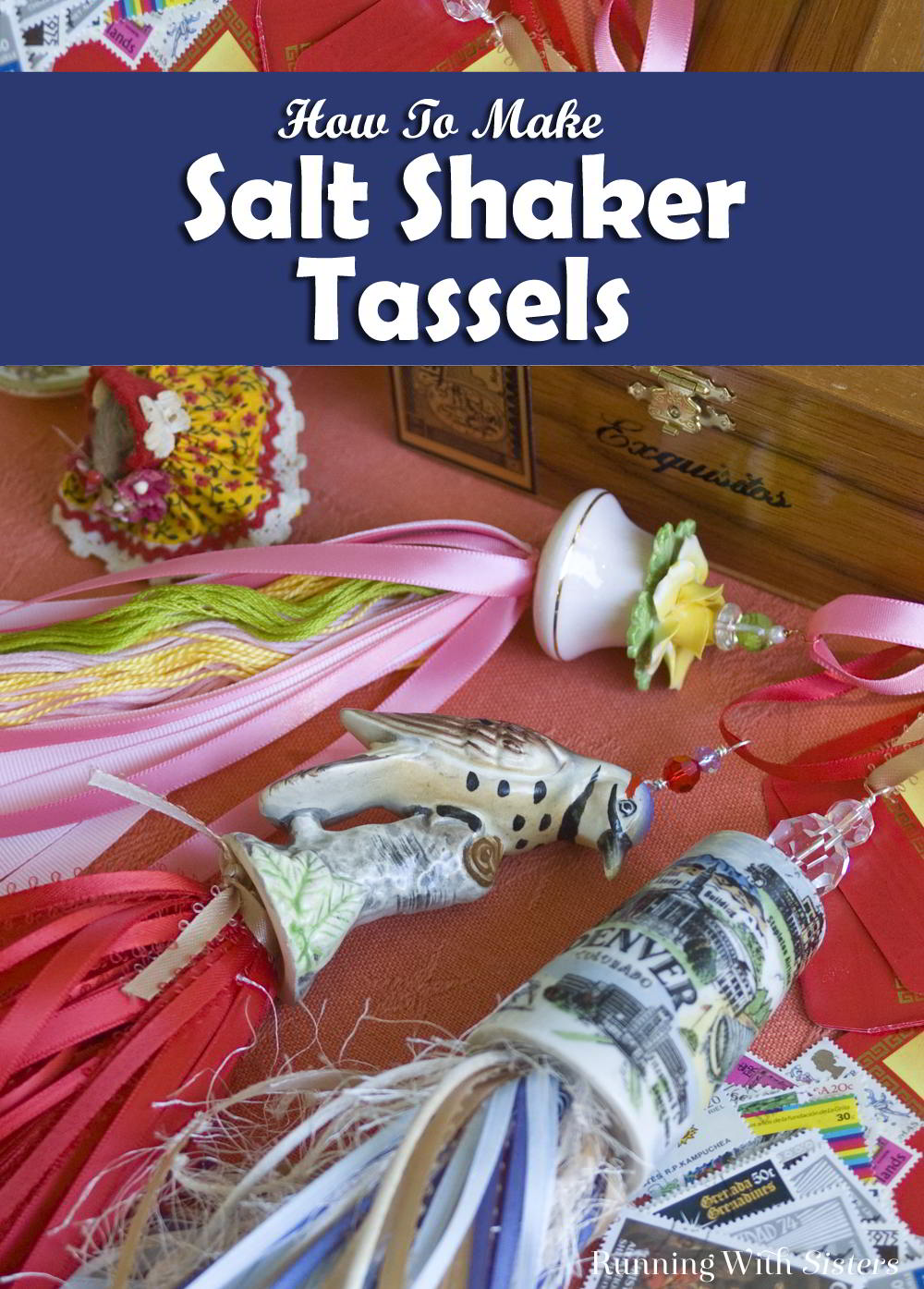Make a salt shaker tassel from flea market salt shaker! It's easy. We'll show you how to turn a single salt or pepper shaker into a chic tassel.