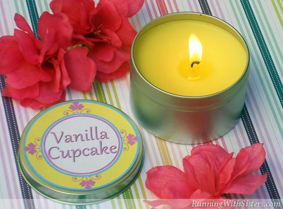 Vanilla Cupcake Candle Tin