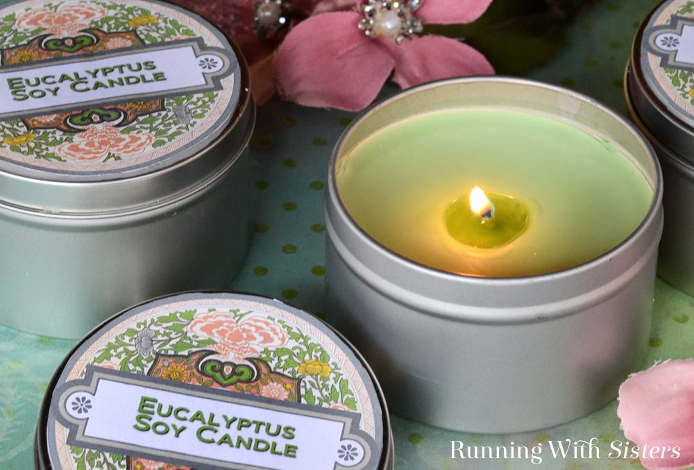 Make a Eucalyptus Soy Candle Tin using fast-melting soy wax (in the microwave!) for a last minute gift or stocking stuffer.