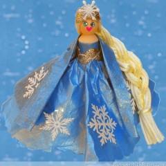 Frozen Snow Princess Clothespin Doll
