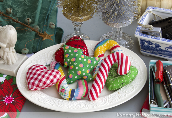 Stuffed Calico Ornaments