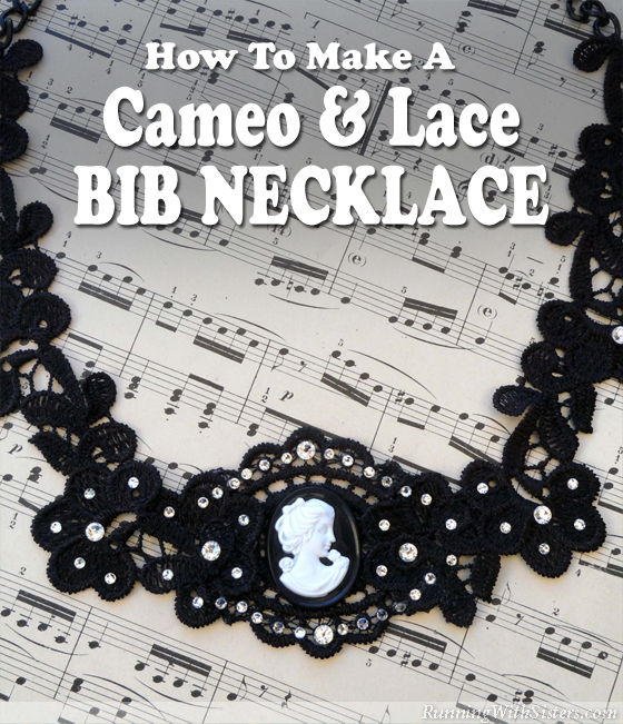 Cameo and Lace Bib Necklace