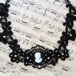 Victorian Lace Cameo Bib Necklace