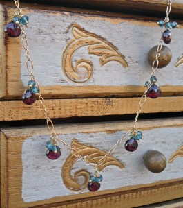 Garnet Briolette Necklace