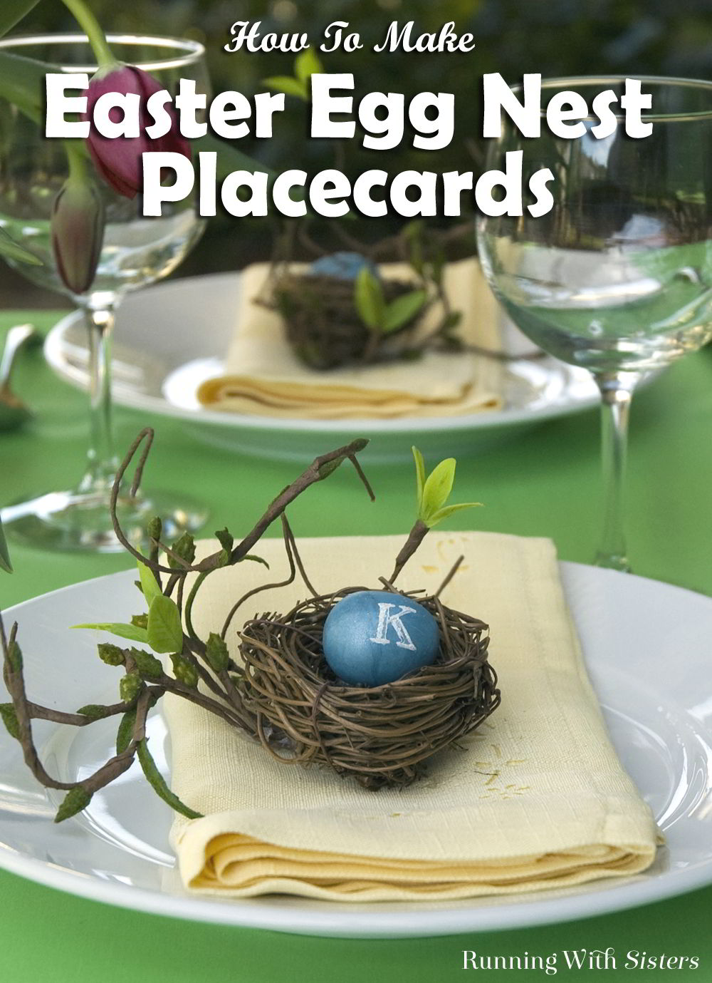 These Easter Egg Placecards are so charming and easy to make you'll want to host Easter brunch for the whole flock!