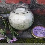 Lavender Rosemary Salt Scrub
