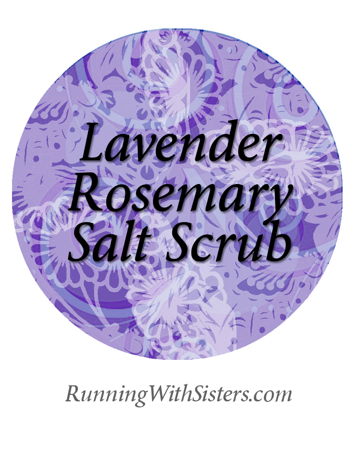 Lavender Rosemary Salt Scrub Label To Print