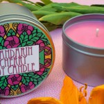 Mandarin Cherry Soy Candle In A Tin