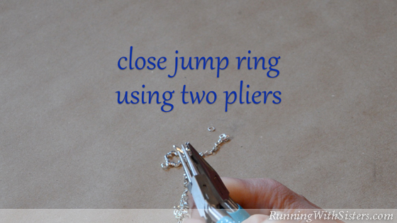 How To Put A Clasp On A Chain - 7 Close Jump Ring Using Two Pliers
