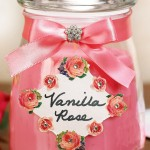 Vanilla Rose Jar Candle for Mother's Day
