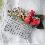 Vintage Brooch and Rose Comb
