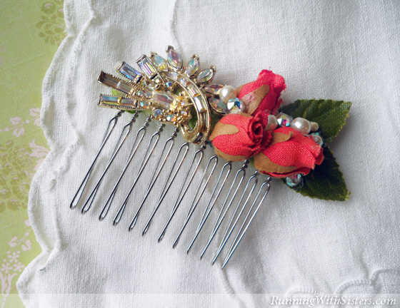 how to make hair brooch at home