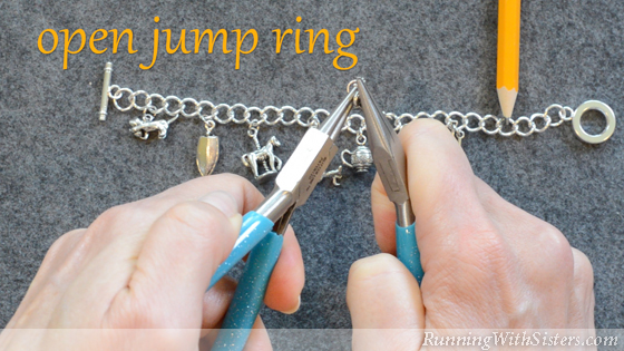 3 Adding To A Charm Bracelet - Open Jump Ring