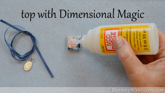 4 How To Make A Picture Pendant - Cover WIth Dimensional Magic