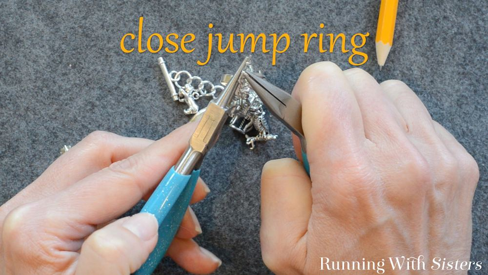 5 Adding A Charm To A Charm Bracelet - Close Jump Ring
