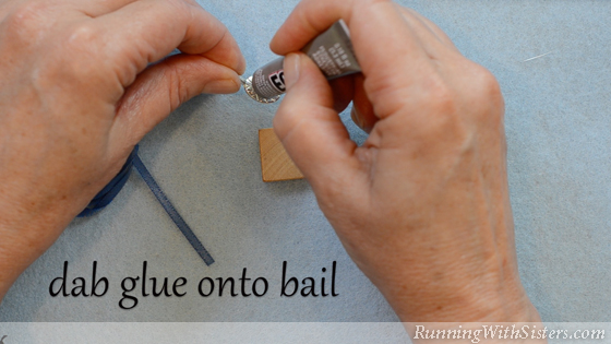 6 How To Make A Picture Pendant - Glue Bail To Tile