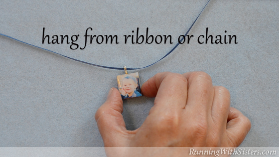 7 How To Make A Picture Pendant - Hang On Ribbon