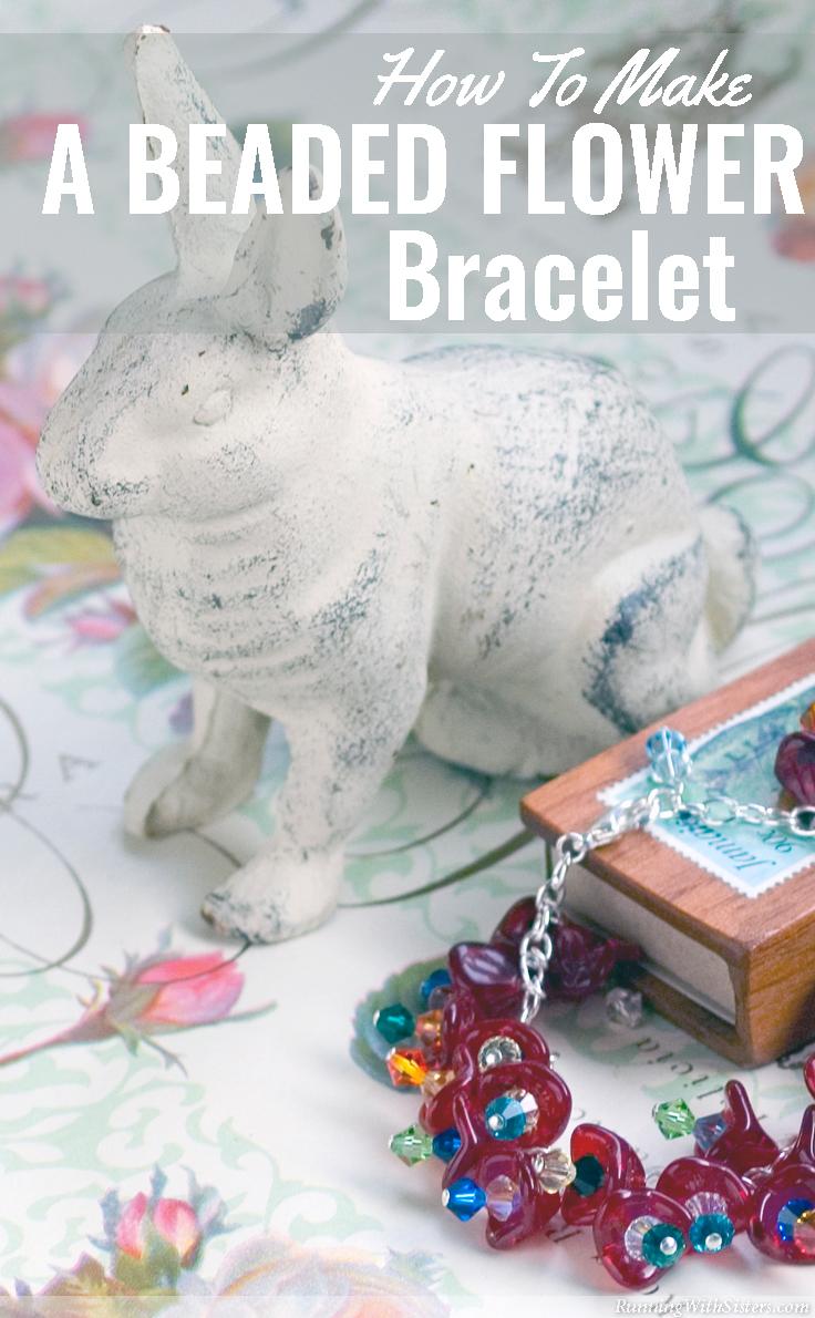 www.RunningWithSisters Make a beaded bracelet.