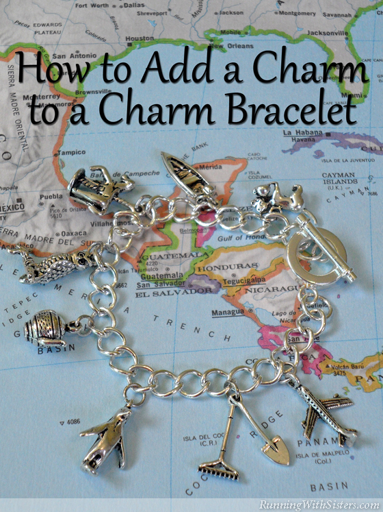 www.RunningWithSisters.com Learn how to add a charm to a charm bracelet with this tutorial and video how-to.