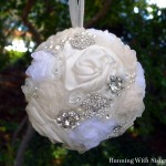 Rhinestone & Ribbon Kissing Ball