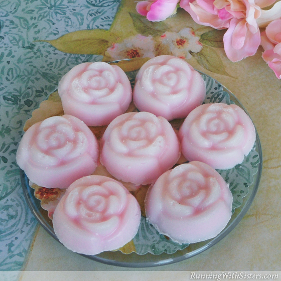 Learn to make Rose Sugar Scrub Soaps!