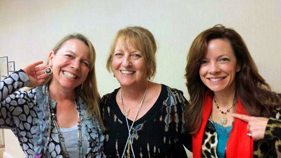 Kitty, Diane, and Jennifer at the Bead & Boutique Arts Show