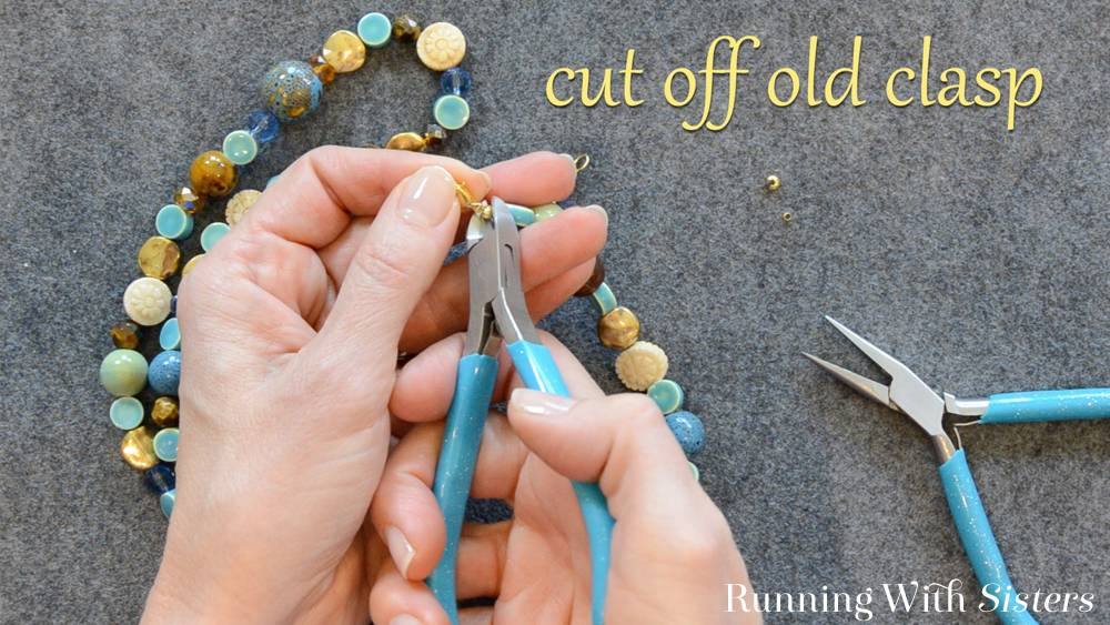 1 How To Shorten A Necklace - Cut Off Old Clasp