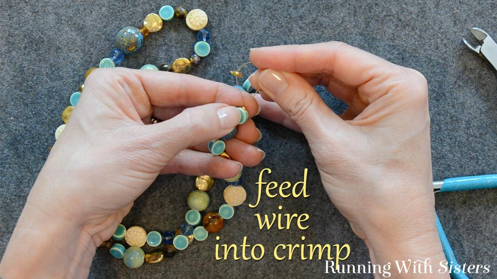 5 How To Shorten A Necklace - Feed Wire Into Crimp