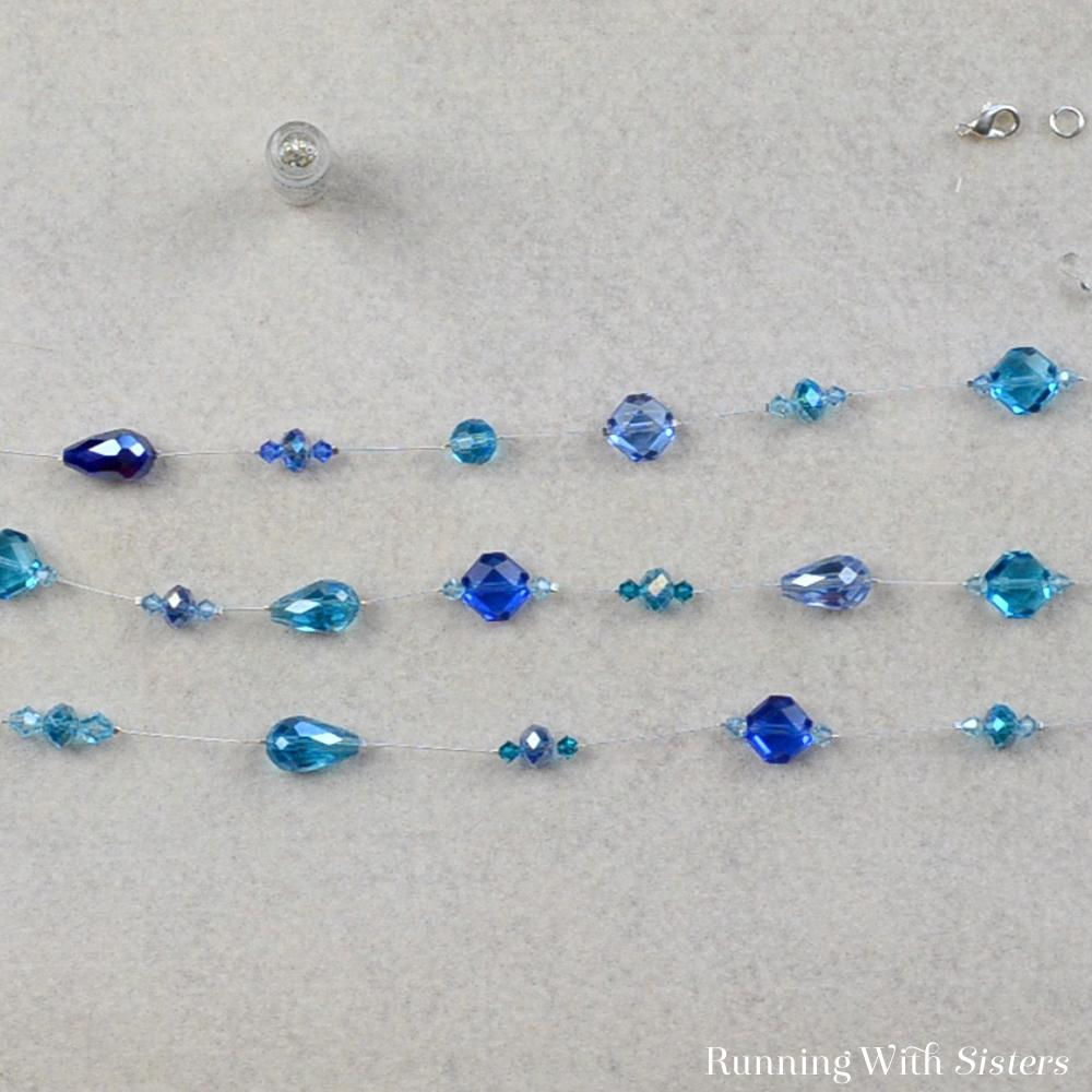 6 Crystal Illusion Necklace - Repeat To Bead Third Strand