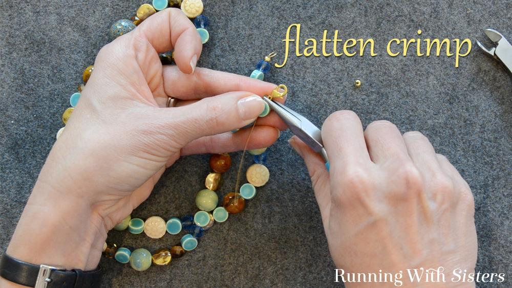 6 How To Shorten A Necklace - Flatten Crimp