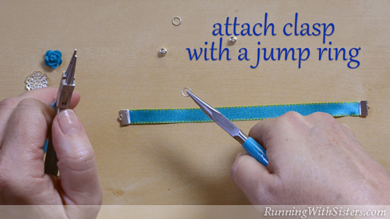 7 How To Make A Ribbon Bracelet - Attach Clasp With A Jump Ring