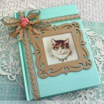 Vintage Victorian Journal With Kitten