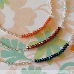 Crystal Bar Necklaces