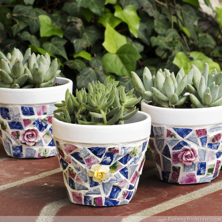How To Mosaic With Broken China Running With Sisters