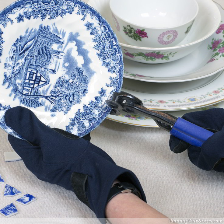 Mosaic With Broken China Nippers 2