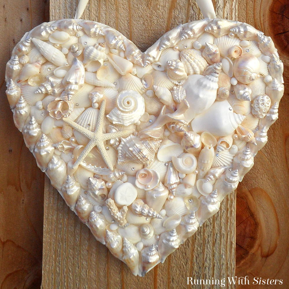 Shell Heart Door Hanger Square