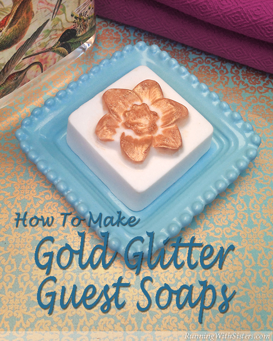 Gold Glittered Guest Soaps