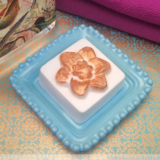 Gold Glittered Guest Soaps Square