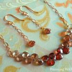 Ombre Wirework Necklace And Earrings