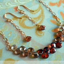 Ombre Briolette Necklace & Earrings
