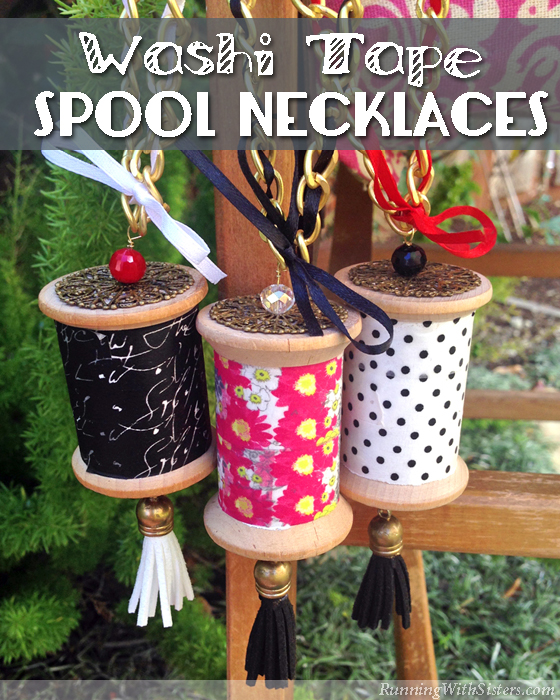Washi Tape Spool Necklaces