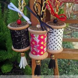 Washi Tape Spool Necklaces