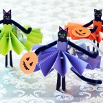 Trick or Treat! Black Cat Clothespin Dolls