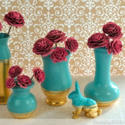 Gold Leaf Vases - How To Apply Gold Leaf
