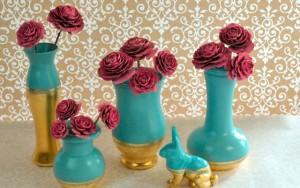 Gold Leaf Vases - How To Apply Gold Leaf