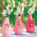 Vase Makeover: Faux-Porcelain Flower Vases