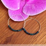 Easy DIY Beaded Earrings: Crystal Hoops!