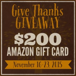 We've got something awesome for you today to say THANKS for all the love you've given us this past year! It's a chance to win an Amazon Gift Card!