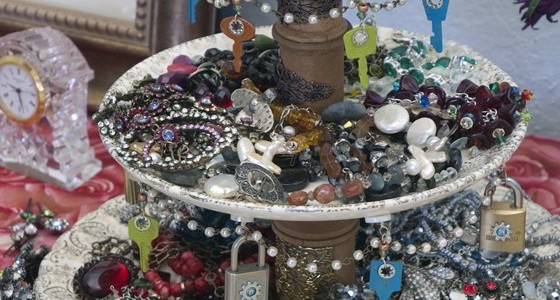 Under Lock And Key Tiered Jewelry Display