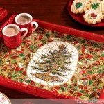 Christmas Card Mosaic Tray
